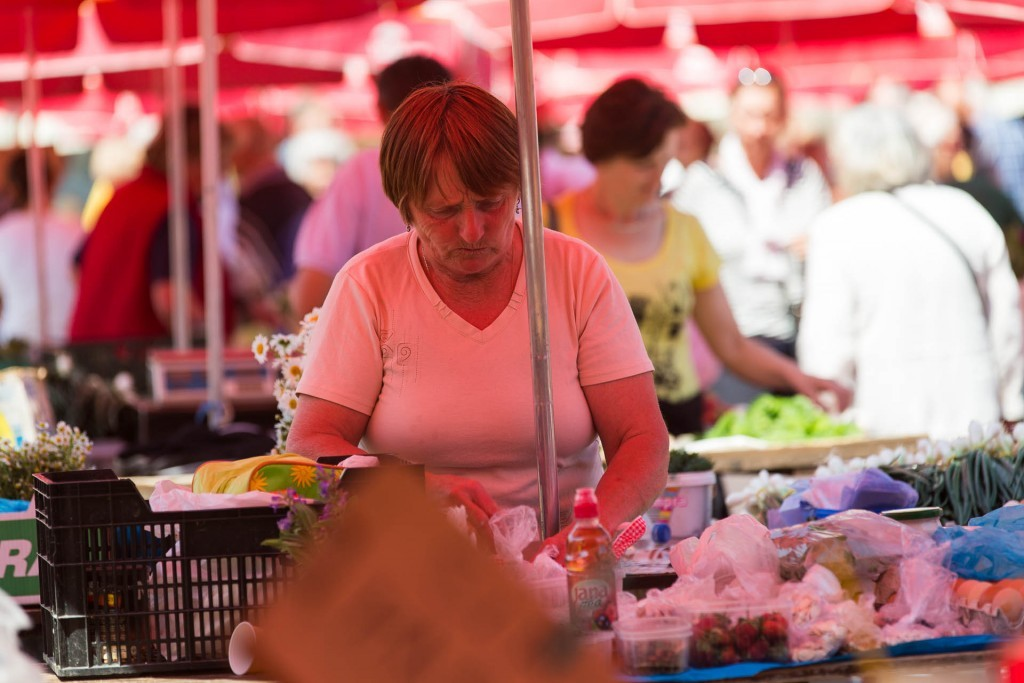 Dolac, market, Zagreb, centre