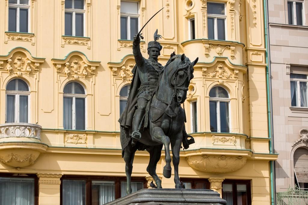 Just Zagreb, main square, ban Jelacic