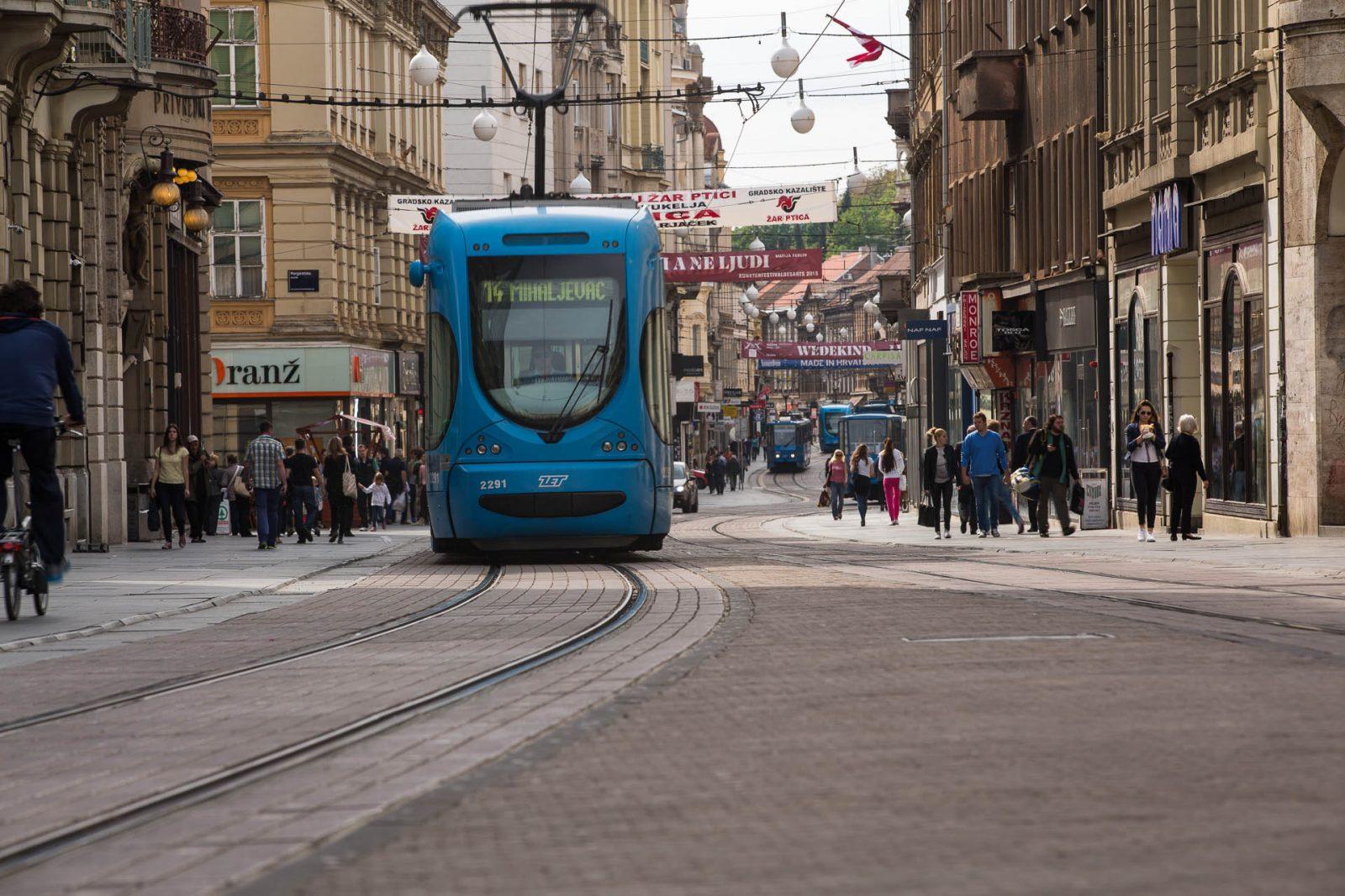 Just Zagreb, Ilica, tram