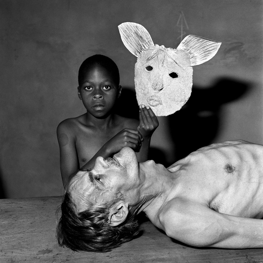 Roger Ballen_Tommy, Samson and a mask, 2000
